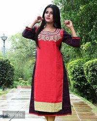 Snap Kart Womens Black Wear Kurti
