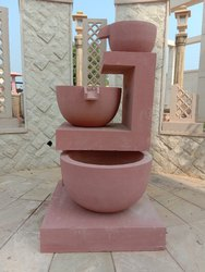 Red Sandstone Garden Fountain