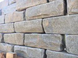 Grey Sandstone Walling and Kerbstone