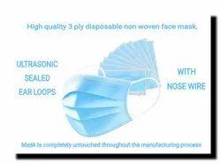 Genral purpose ear loop 3 ply face masks