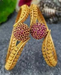 Gold Plated Golden Imitation Bangles