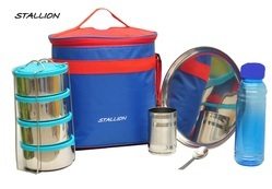 Stallion Stainless Steel Insulated 5 in 1 Hot & Cold Lunch Box
