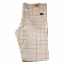 Check Formal Wear Mens Designer Cotton Trouser