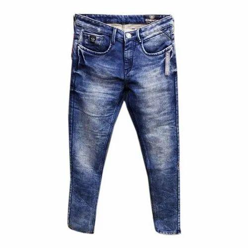 Identy Regular Fit Mens Denim Jogger Jeans, Waist Size: 28-40