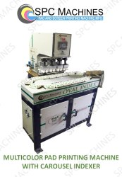 Multicolor Pad Printing Machine With Carousel Indexing Conveyor Model Max 90 4ccc