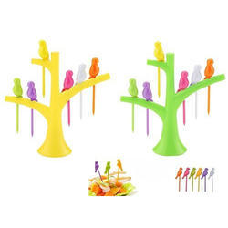 12 Plastic Fruit Fork