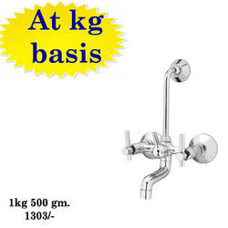 Brass Telephonic Wall Mixer, For Bathroom Fiting, Packaging Type: Box And Cotton Bag