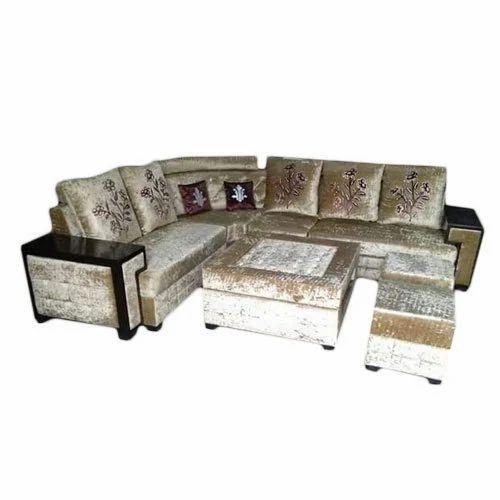 Designer Cushion Back L Shape Sofa Set L Shape Couch एल श प