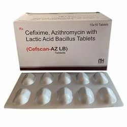Cefixime Azithromycin With Lactic Acid Bacillus Tablets