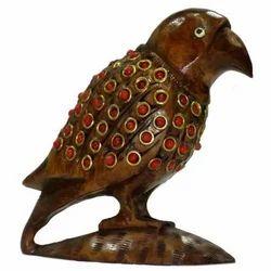 Wooden Antique Parrot