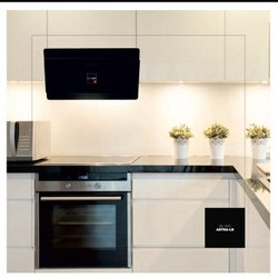 L Shape Wooden Italian Modular Kitchen, Warranty: 1-10 Years
