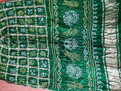 Wedding Traditional Pure Gaji Silk Bandhani Gharchola Saree