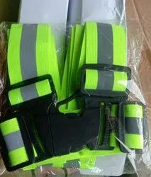 Green Safety Material Cross Belt, For Safety Purpose