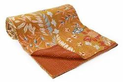 Handmade Double Bed Size Kantha Quilt/ Cotton Gudari