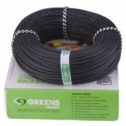 Greens Smart Black 1sq.mm Electric Cable, for House Wiring, Packaging Type: Roll