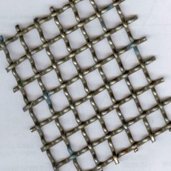 SS Silver Double Crimped Wire Mesh, Thickness: 1 Mm, Material Grade: Ss202