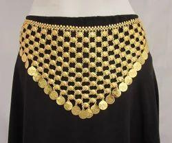 Dance Show Hippie Gold Plated Navratri Garba Chain Coin Belt