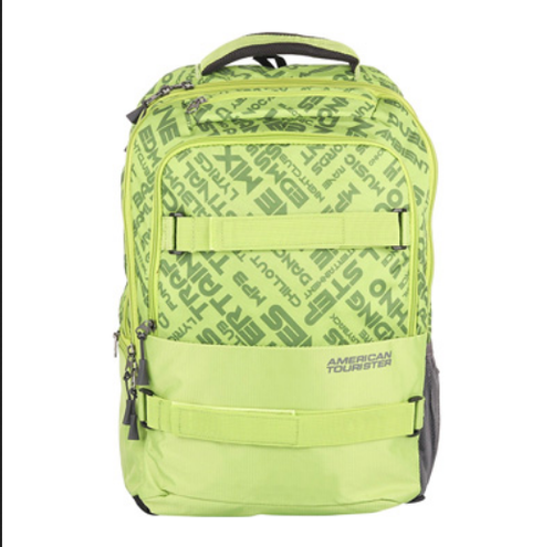American Tourister Green Dodge 01 Lime Green Backpack bcedbdc56