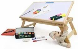 Anva Multipurpose Foldable Wooden Table - with Non Magnetic White Board