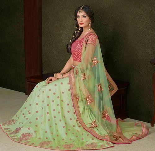 da5119e301b44b Pista Green Colour Silk Heavy Designer Lehenga Choli at Rs 5399 ...