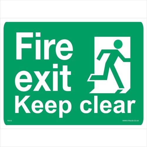 green rigid sheet fire safety signage 1 5 mm id 20342861973