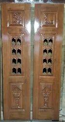 Pooja Teak Door