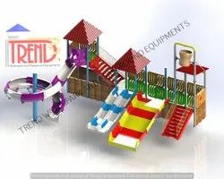 Four Platform Water Play Station