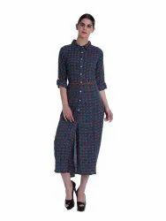 Printed Shirtwaist Dress