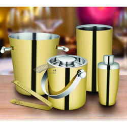 Stainless Steel Gold Plated Bar Set