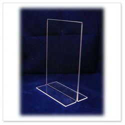 T Shape Acrylic Sign Holder