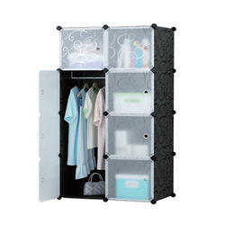 Plastic Clothes Rack Multi Use Organizer, Bookcase, Storage Cabinet,(IT N - STW019)