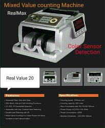 RealMax True Mix Note Value Counting Machine