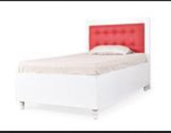 White And Red Dakota Mini Queen Bed