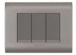 Curve Series Magnesium Grey Switch Plate