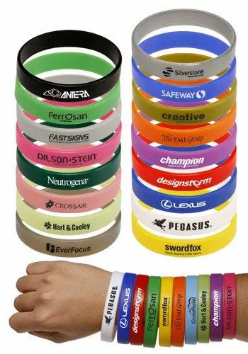 Lakshays Silicone Silicon Wrist Bands, Packaging Type: 100 pc