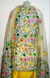 Kantha Work Suits With Heavy Dupatta