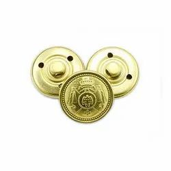 Metal Round Shank Button, For Garments
