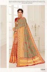 Fancy Designer Cotton Silk Saree