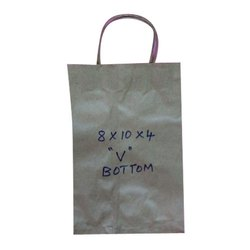 Plain Kraft Paper V Bottom Paper Bag, Capacity: 2 - 3 kg