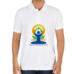 Male Half Sleeves Yoga Day T-Shirt, Size: S, M, L, Xl