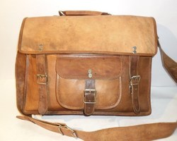 Classic Leather Briefcase Shoulder Bag