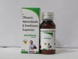 Kdloxin-M: Ofloxacin,Metronidazole & Simethicone Suspension