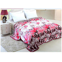 Beautiful Floral Printed Double Bed Sheet