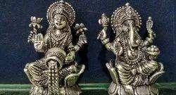 Silver Antique Laxmi Ganesh, Packaging Type: Box