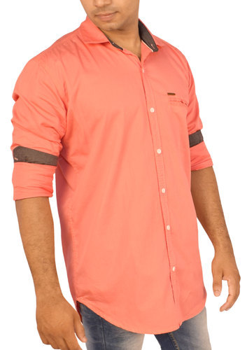 Men's Plain Shirts - Coral Color Shade at Rs 335 /piece | Mens ...