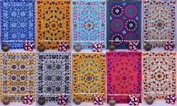 Embroidered Suzani Bed Cover Bedspread Cotton Bed Sheet