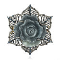 Gold, Silver Carving, Jade Stone And Diamond Brooches