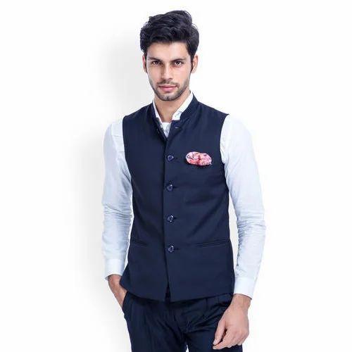 2ae889c43 Blue Nehru Jacket