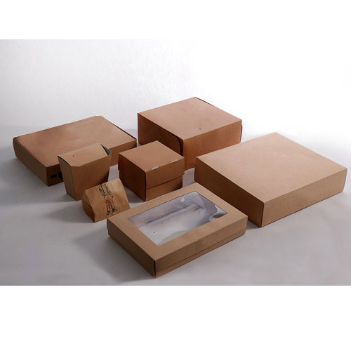 Brown Square Food Packaging Corrugated Box