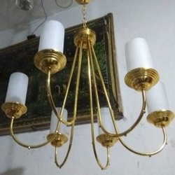 Ironic Golden Candle Jhoomer, For Decoration